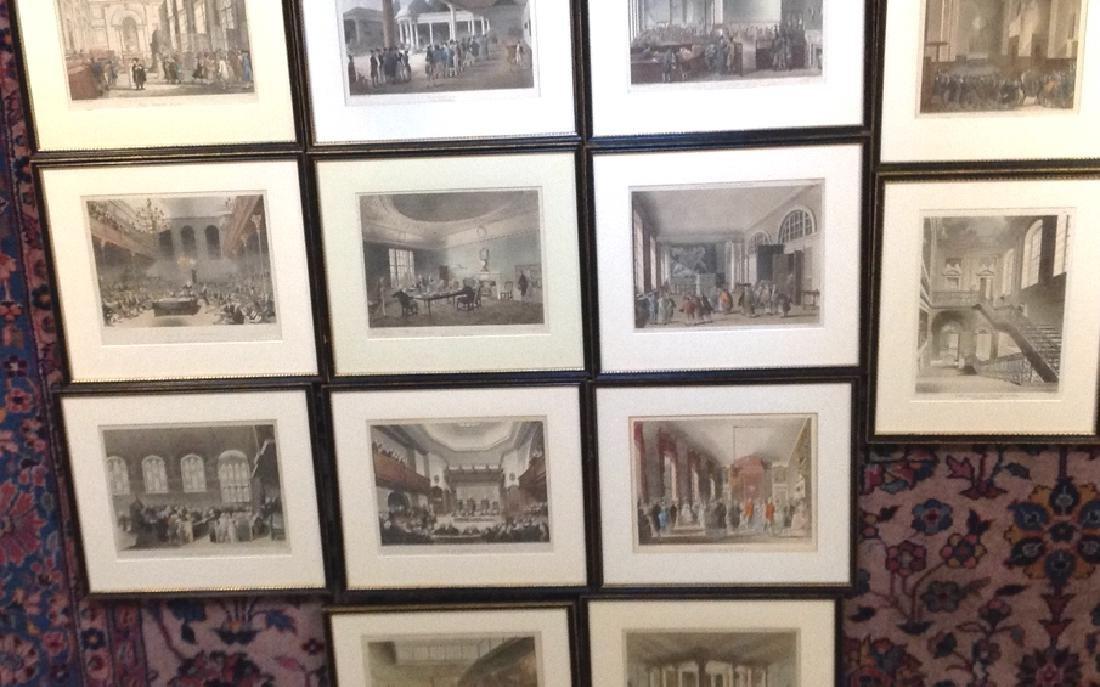 14 London scenes, Rowlanson & Pugin