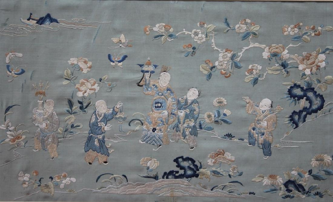 Chinese  hand stitched embroidery