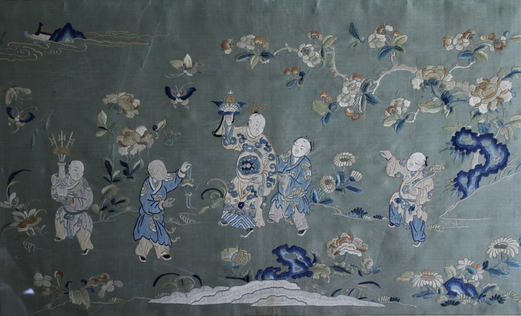 Chinese  hand stitched embroidery - 8