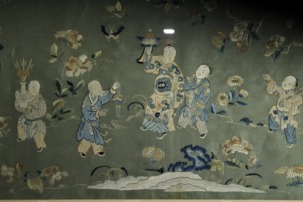 Chinese  hand stitched embroidery - 9