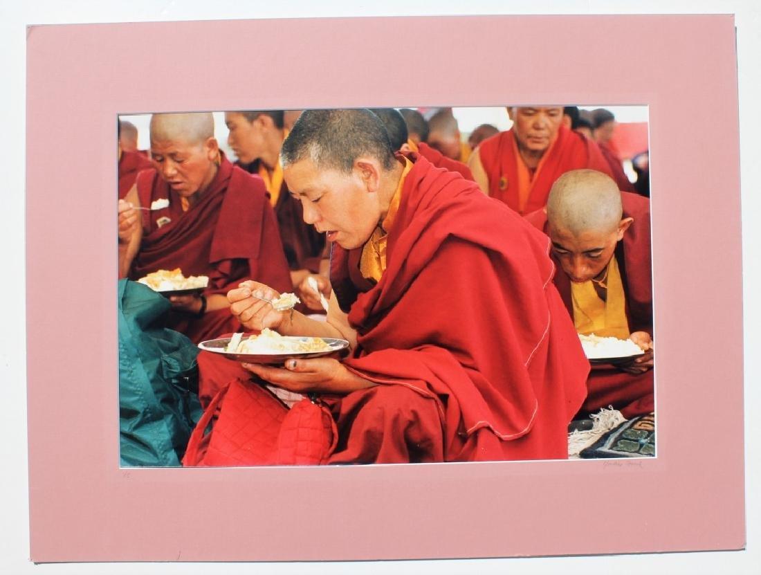 4 large color photographs of Buddist Monks - 10