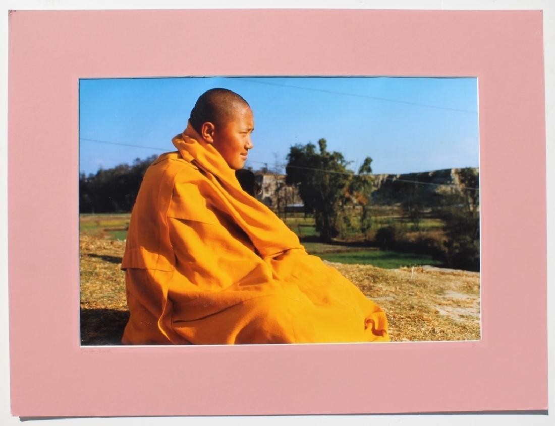 4 large color photographs of Buddist Monks - 2