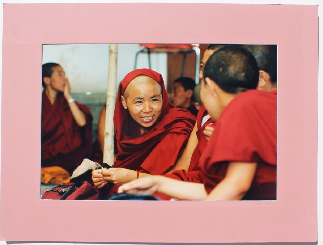 4 large color photographs of Buddist Monks - 3