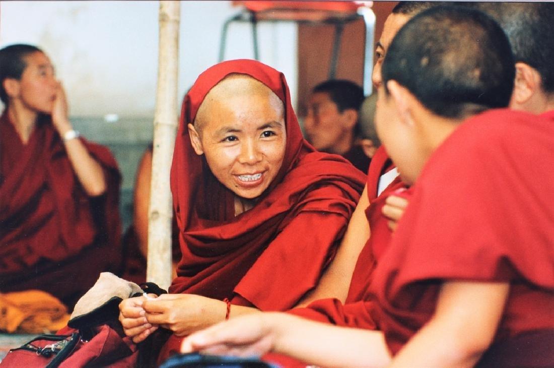 4 large color photographs of Buddist Monks - 4