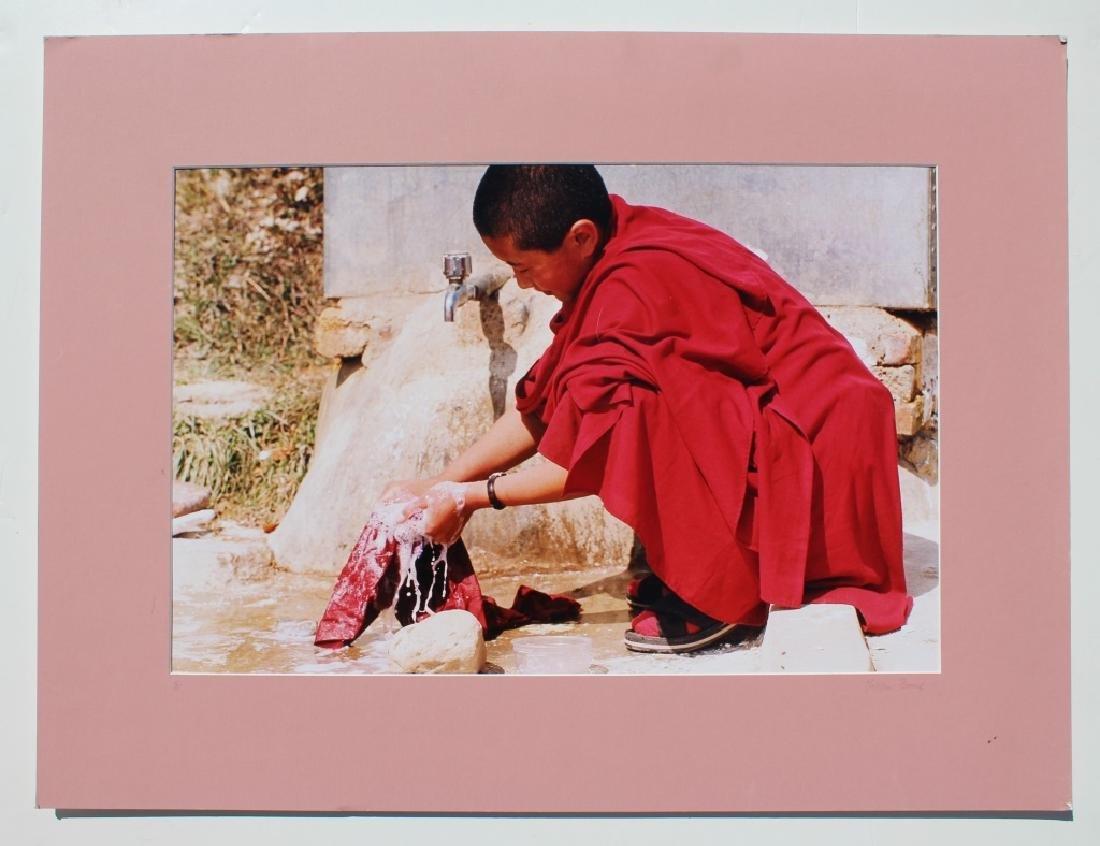 4 large color photographs of Buddist Monks - 7