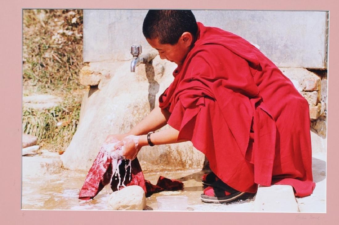 4 large color photographs of Buddist Monks - 9