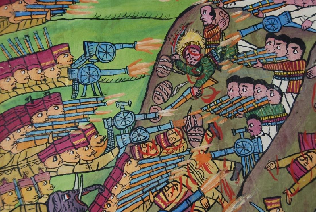 Ethiopian Folk Art Battle Scene - 3