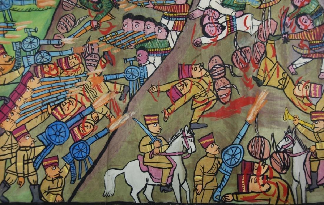 Ethiopian Folk Art Battle Scene - 4