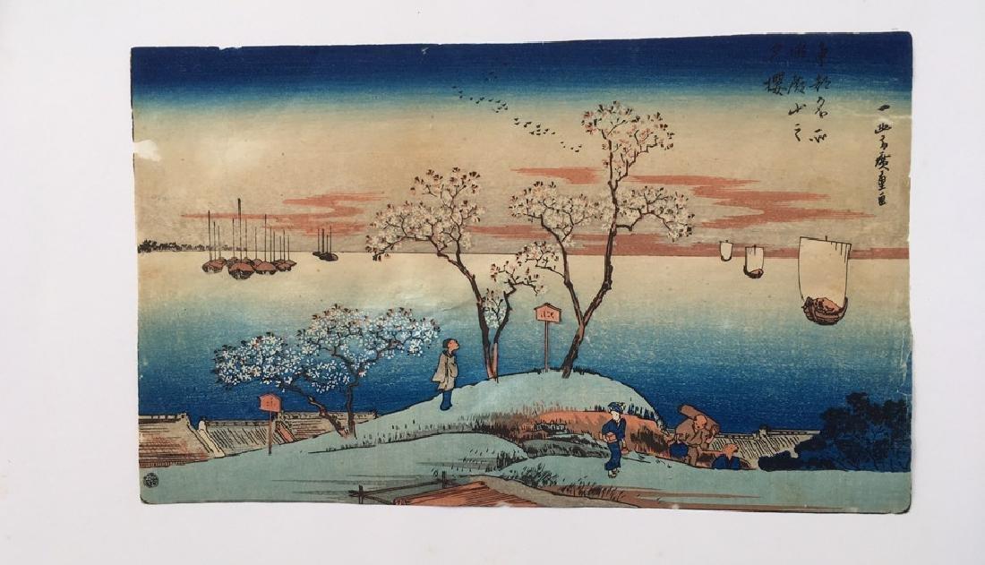 Japanese Print circa 1890 - 2