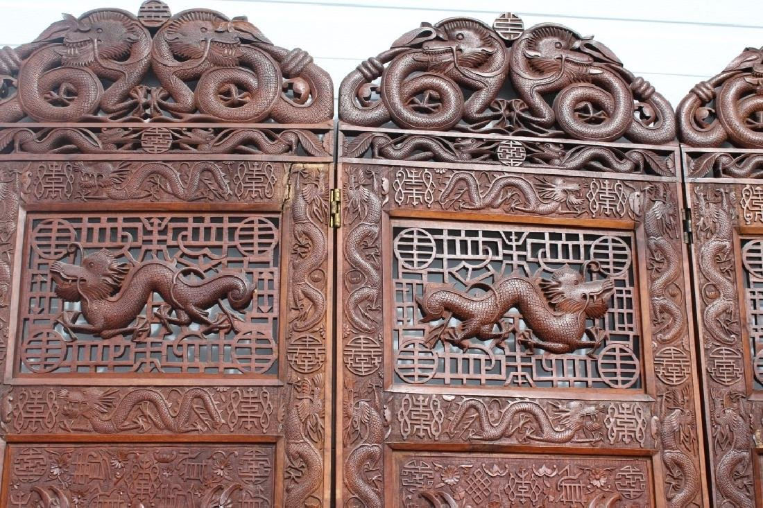 Early 1900 Chinese Wooden Screen - 10