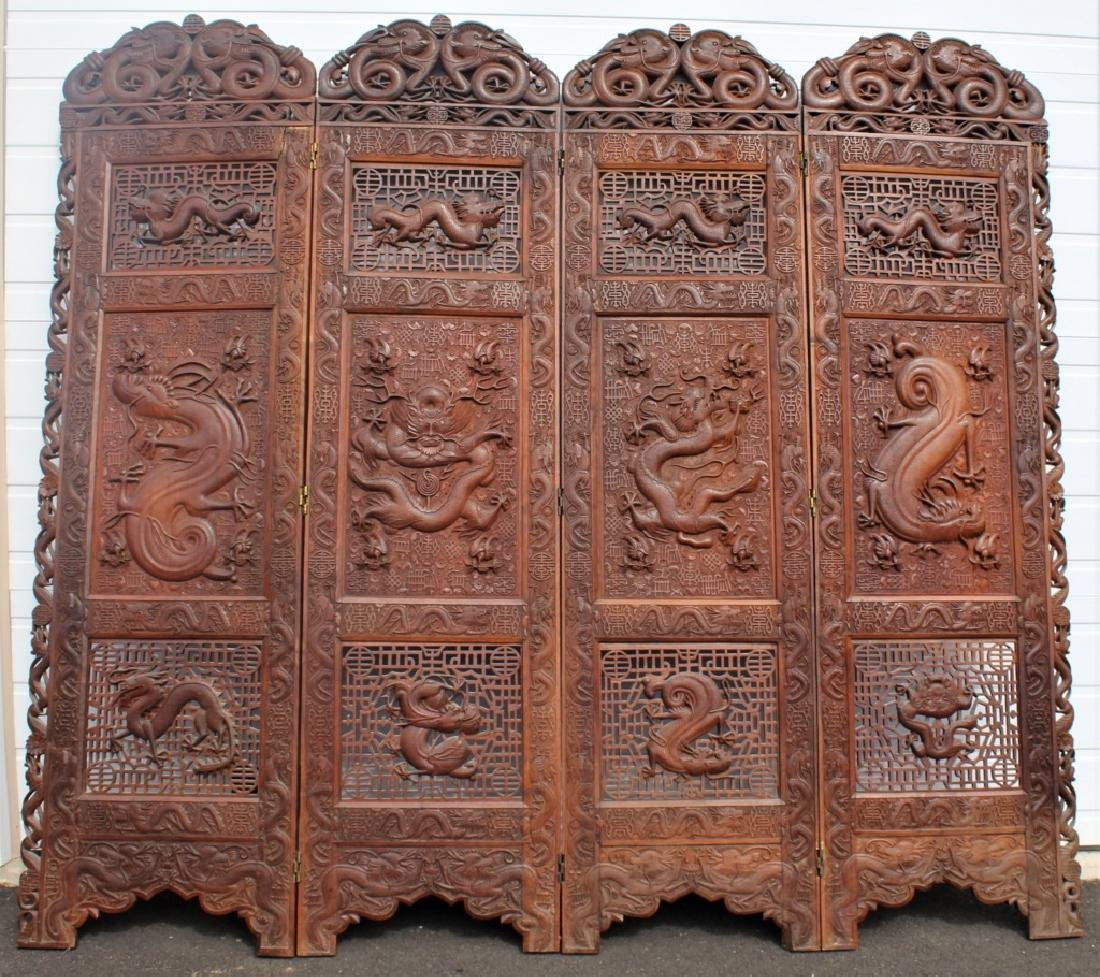 Early 1900 Chinese Wooden Screen