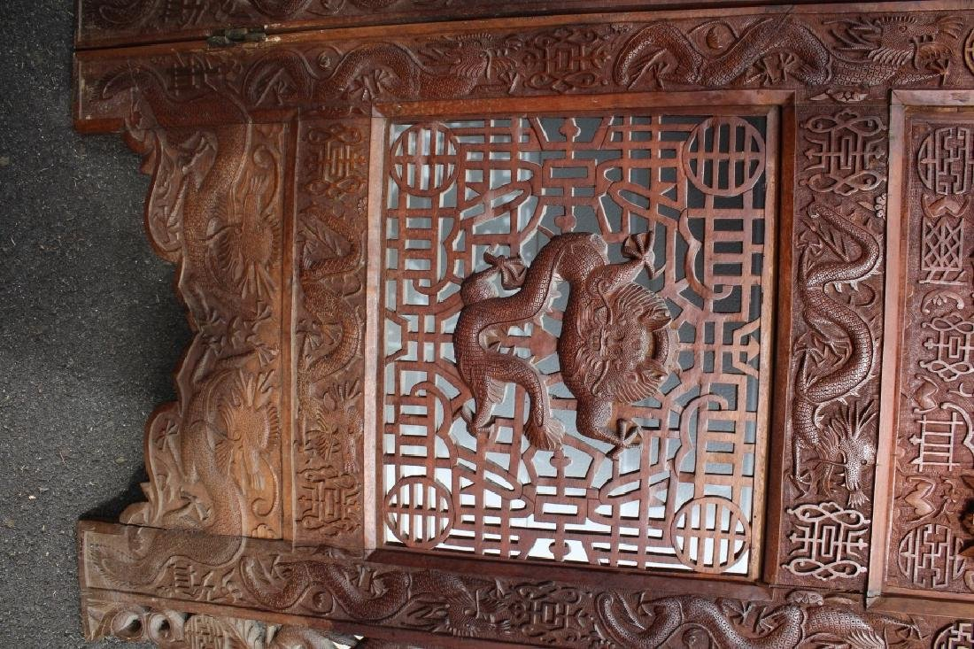 Early 1900 Chinese Wooden Screen - 7