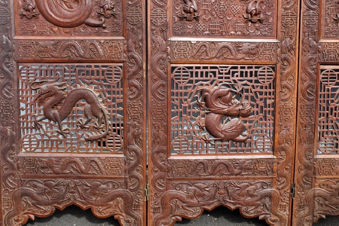 Early 1900 Chinese Wooden Screen - 9