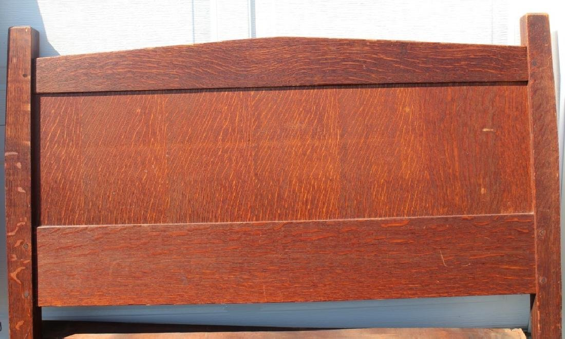 Gustav Stickley Atrib.  Model 912 twin bed - 6