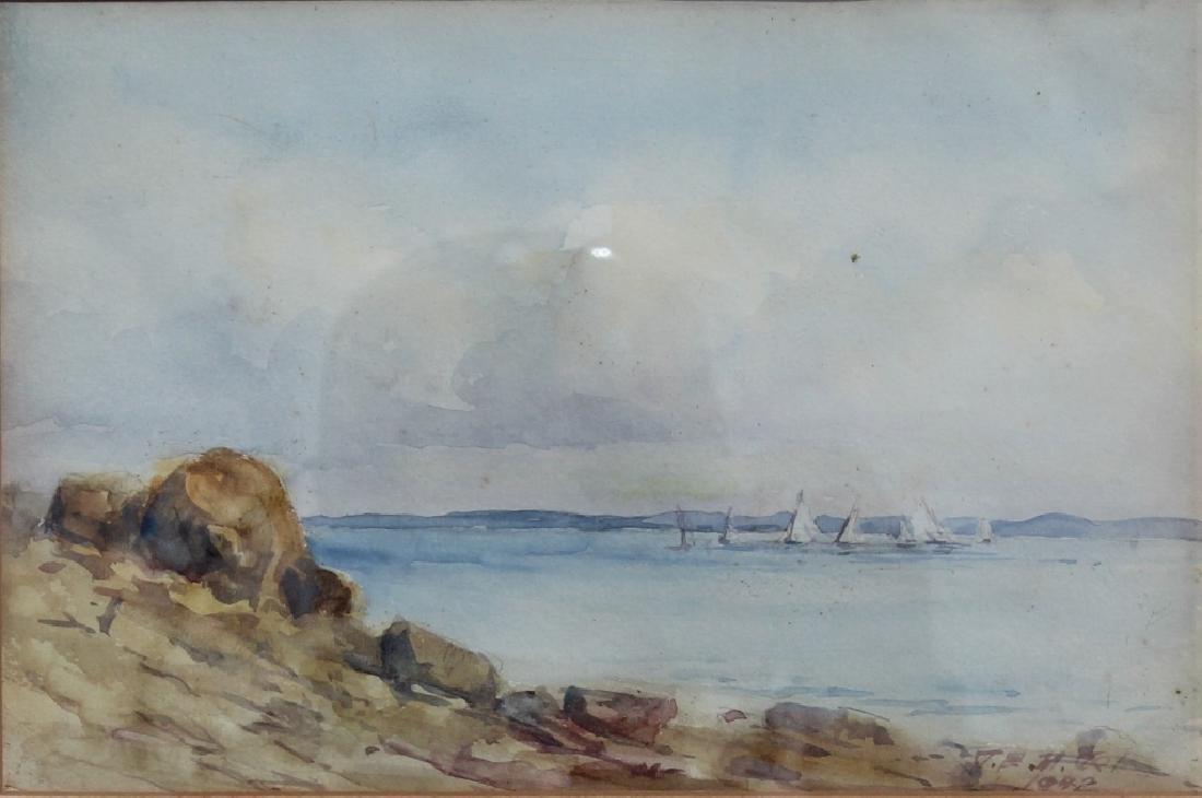 Shoreline watercolor