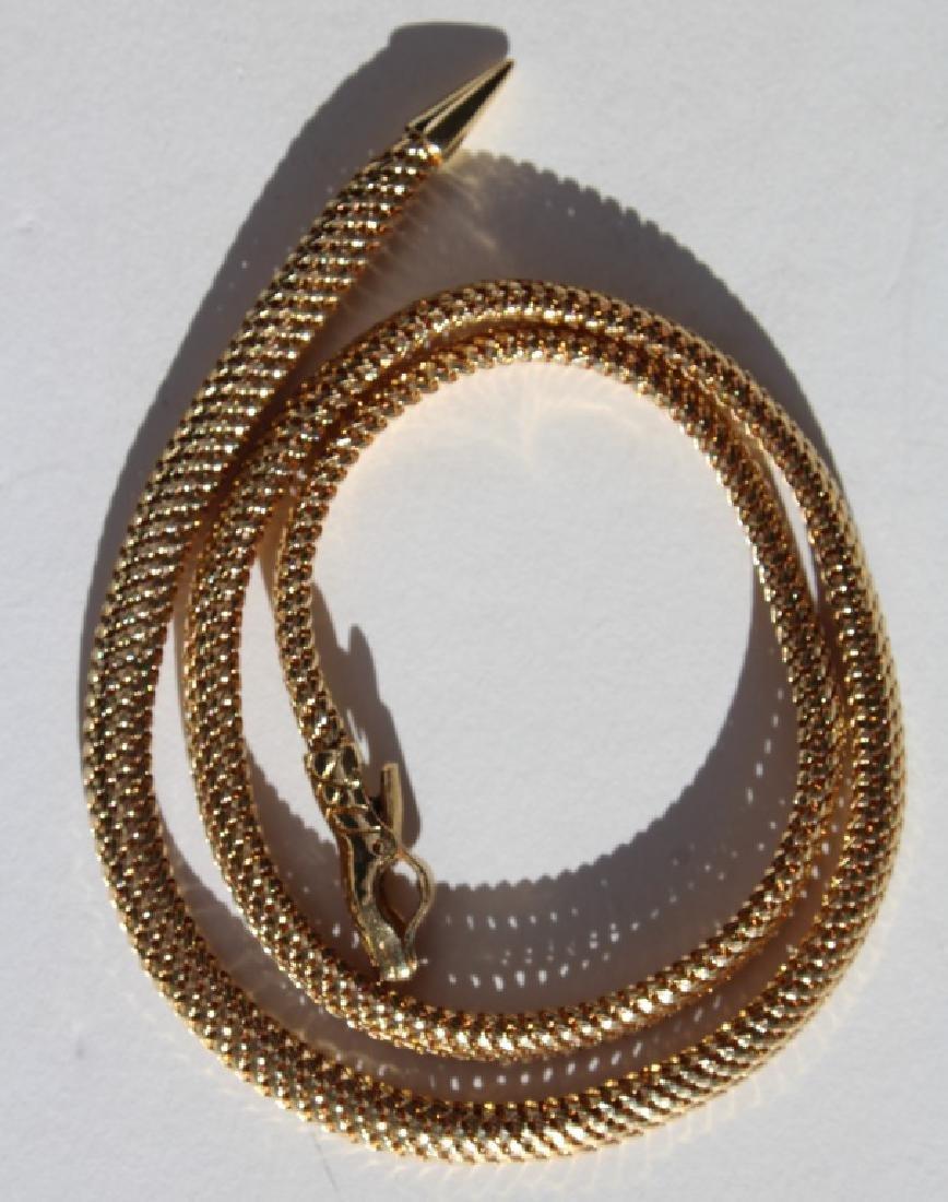 18 carat snake necklace