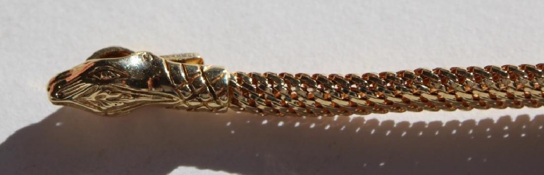 18 carat snake necklace - 2