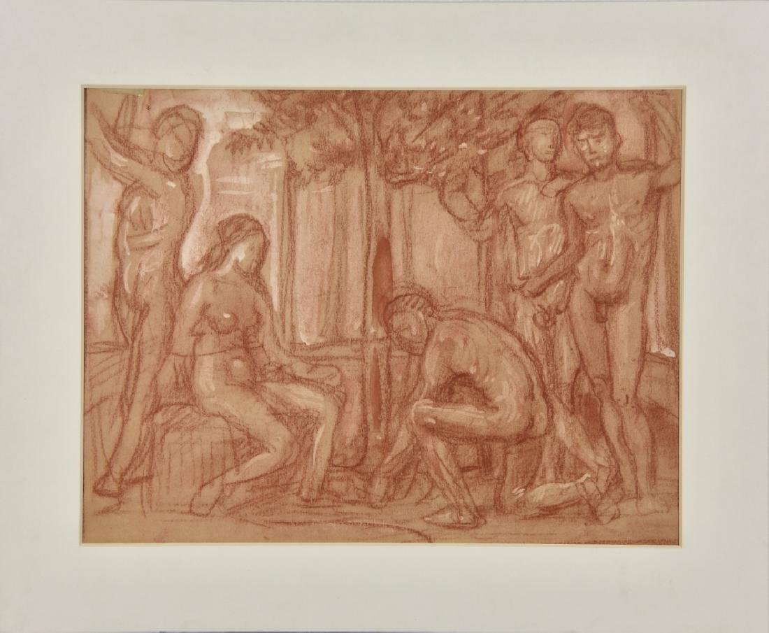 Group study drawing nude - 2