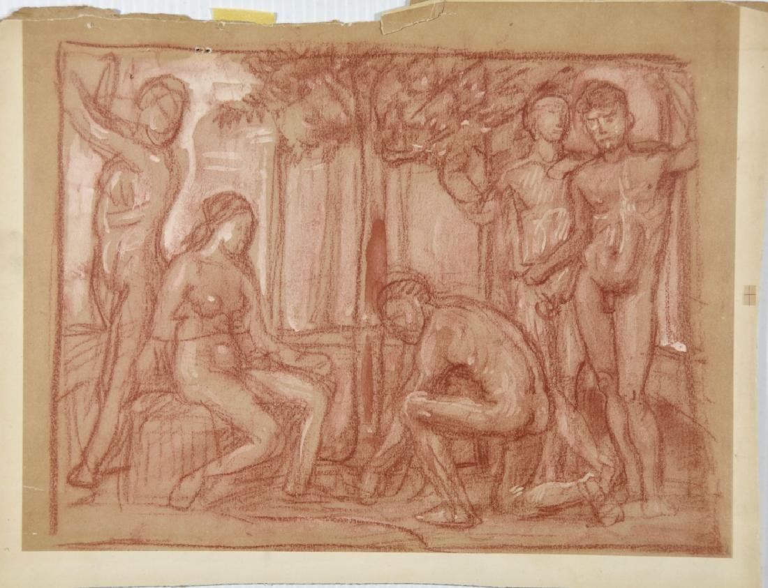 Group study drawing nude - 3