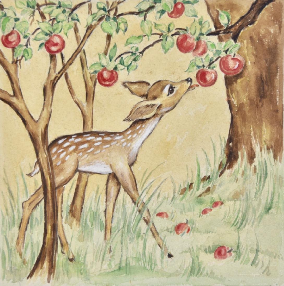 Fawn with apples
