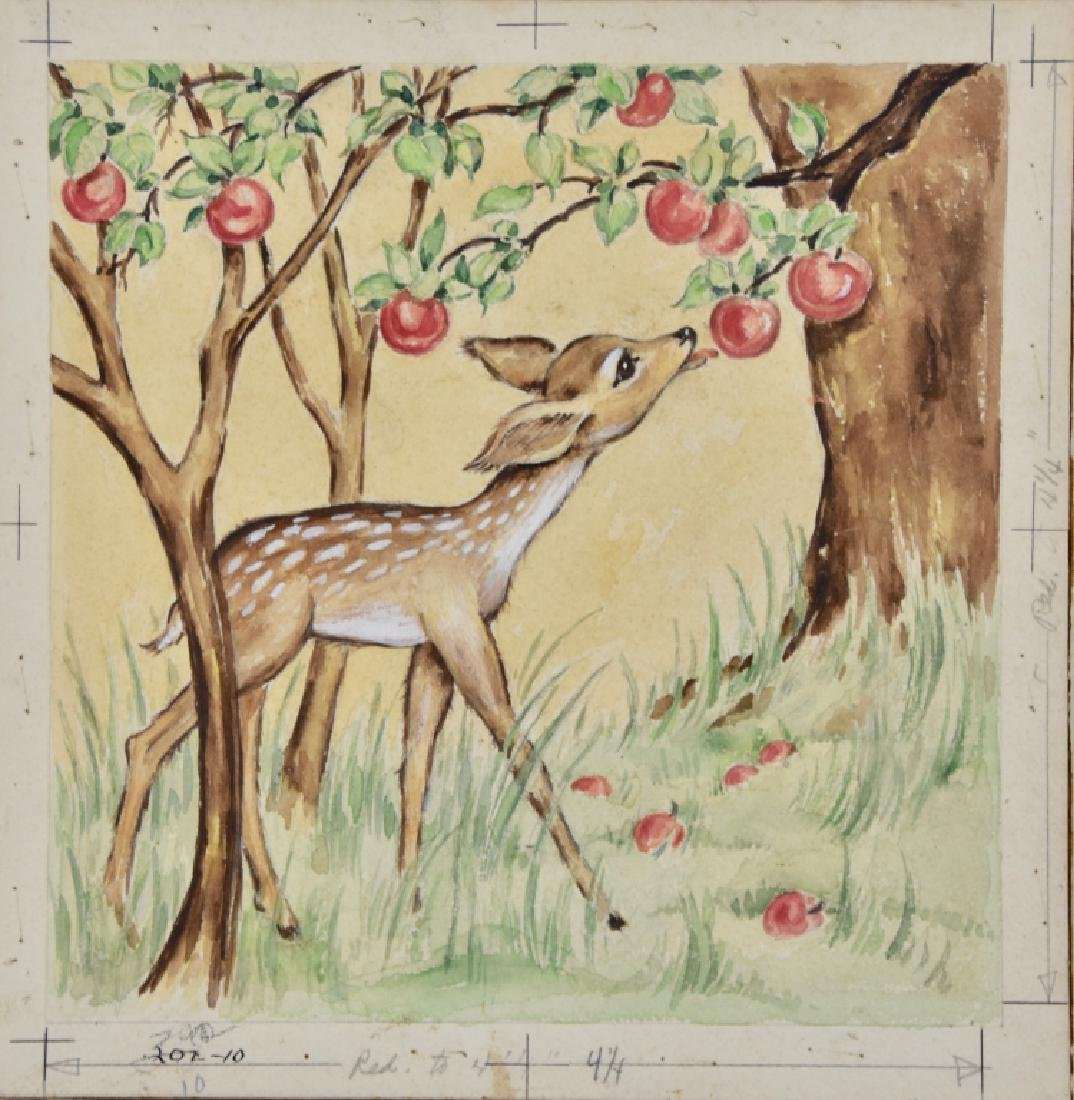 Fawn with apples - 2