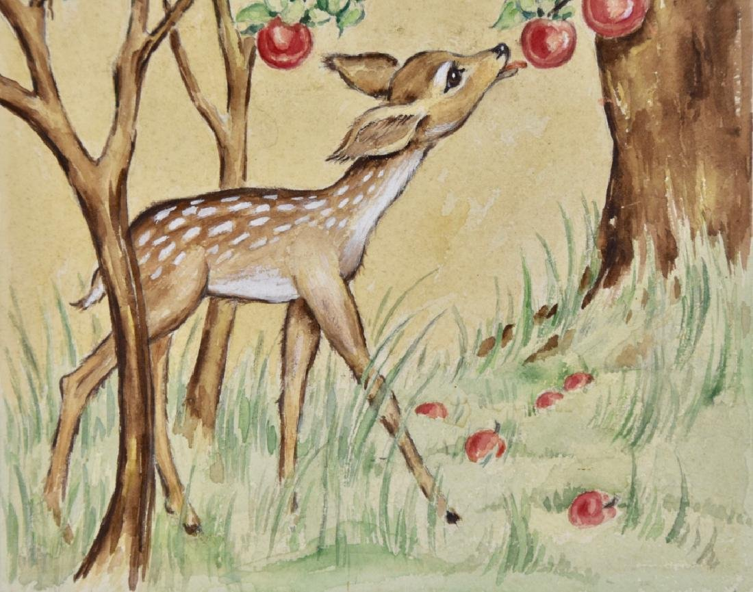 Fawn with apples - 3