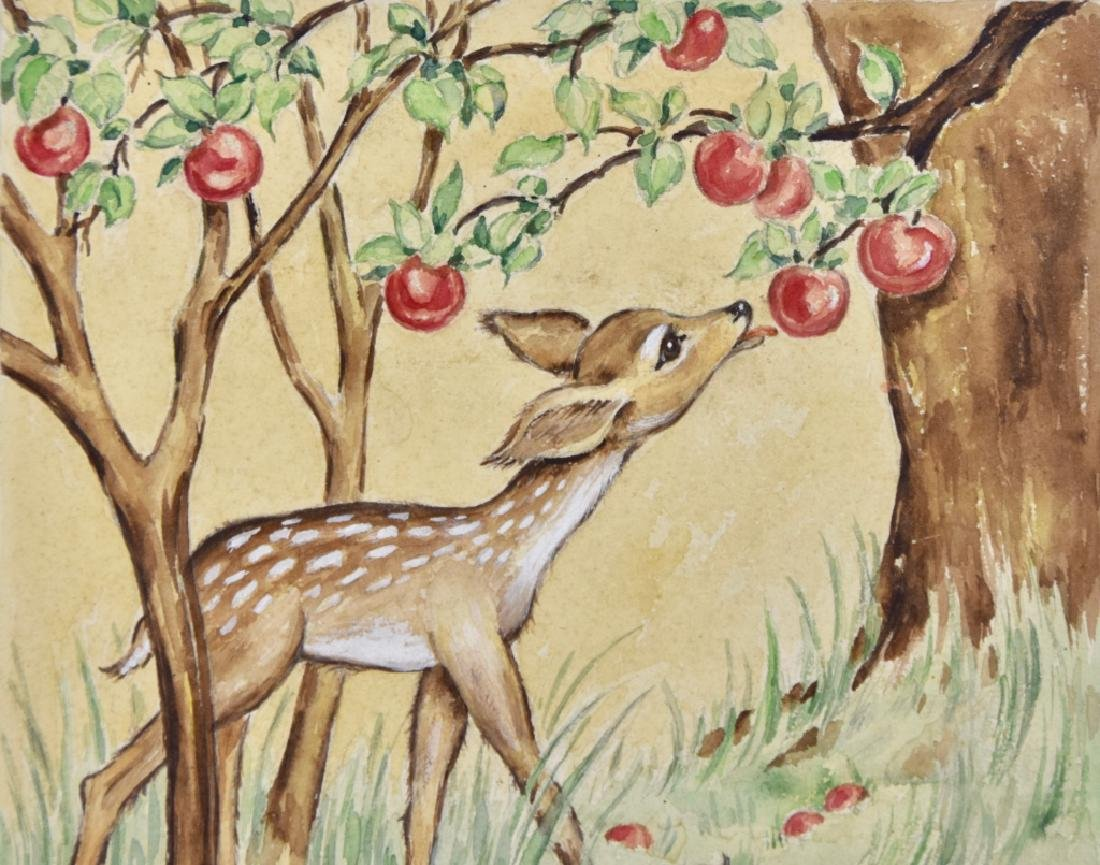 Fawn with apples - 5