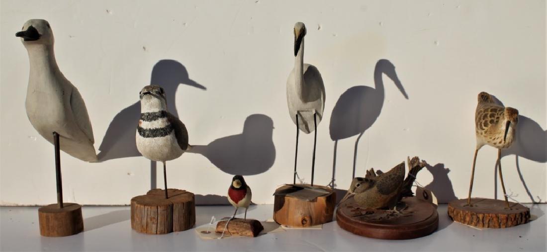 6 wooden birds - 2