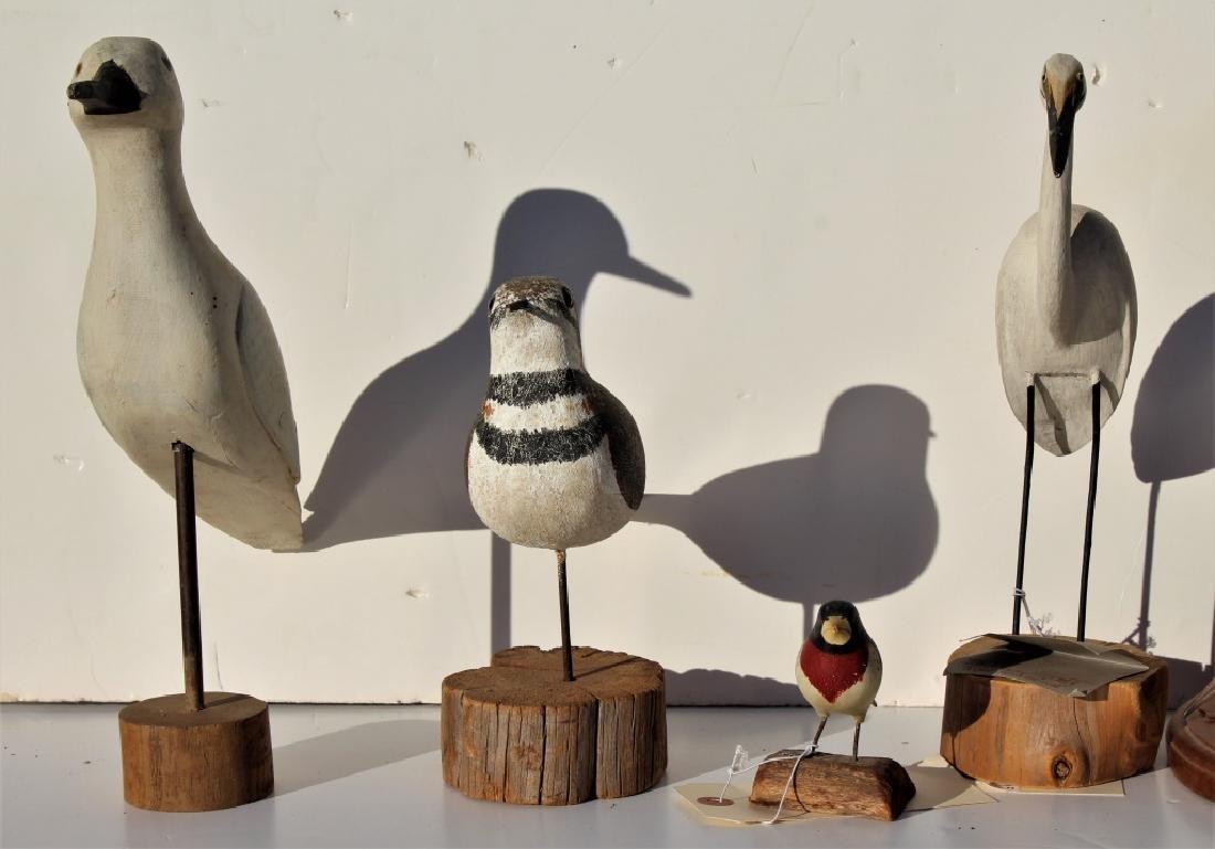 6 wooden birds - 4