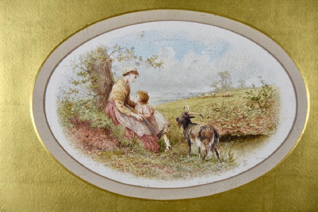 European watercolor 19th century