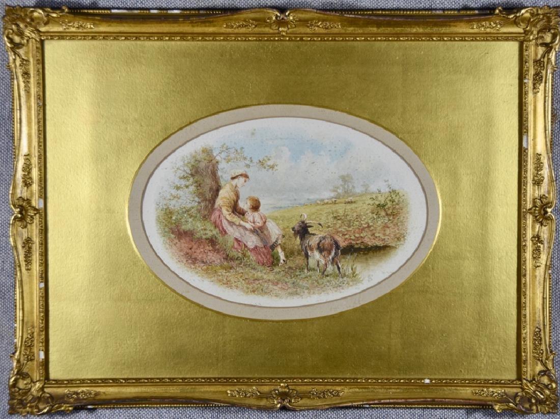 European watercolor 19th century - 2
