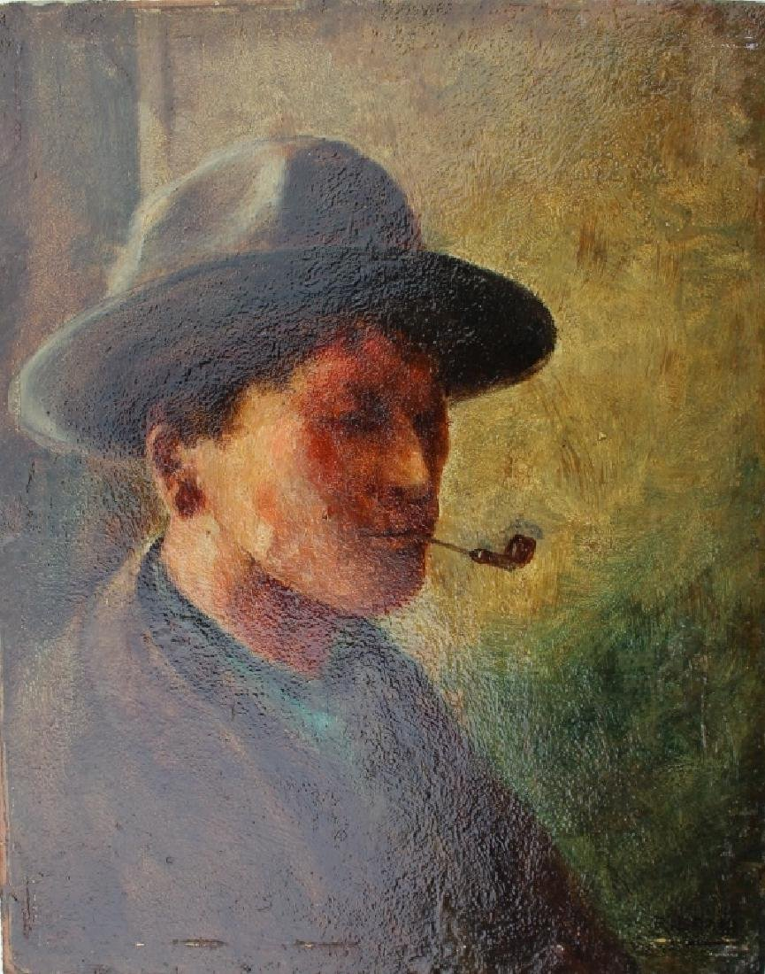 Man Smoking a pipe - 3