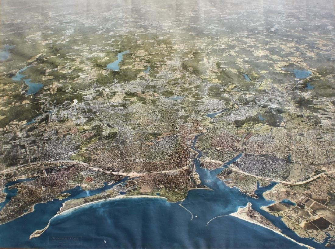 Aerial survey of Bridgeport, Conn. 1958