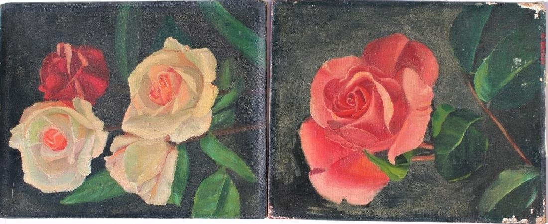 Pair of oil on boards