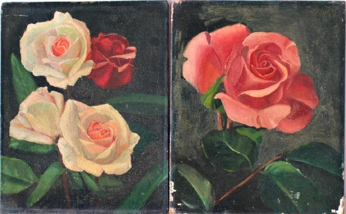 Pair of oil on boards - 2