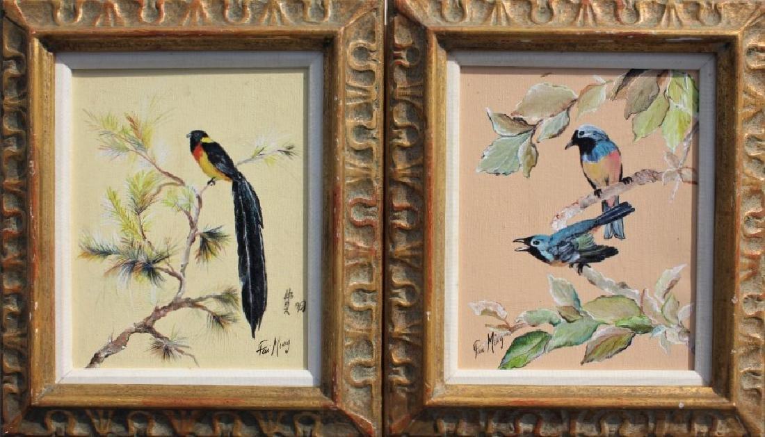Pair of Bird paintings