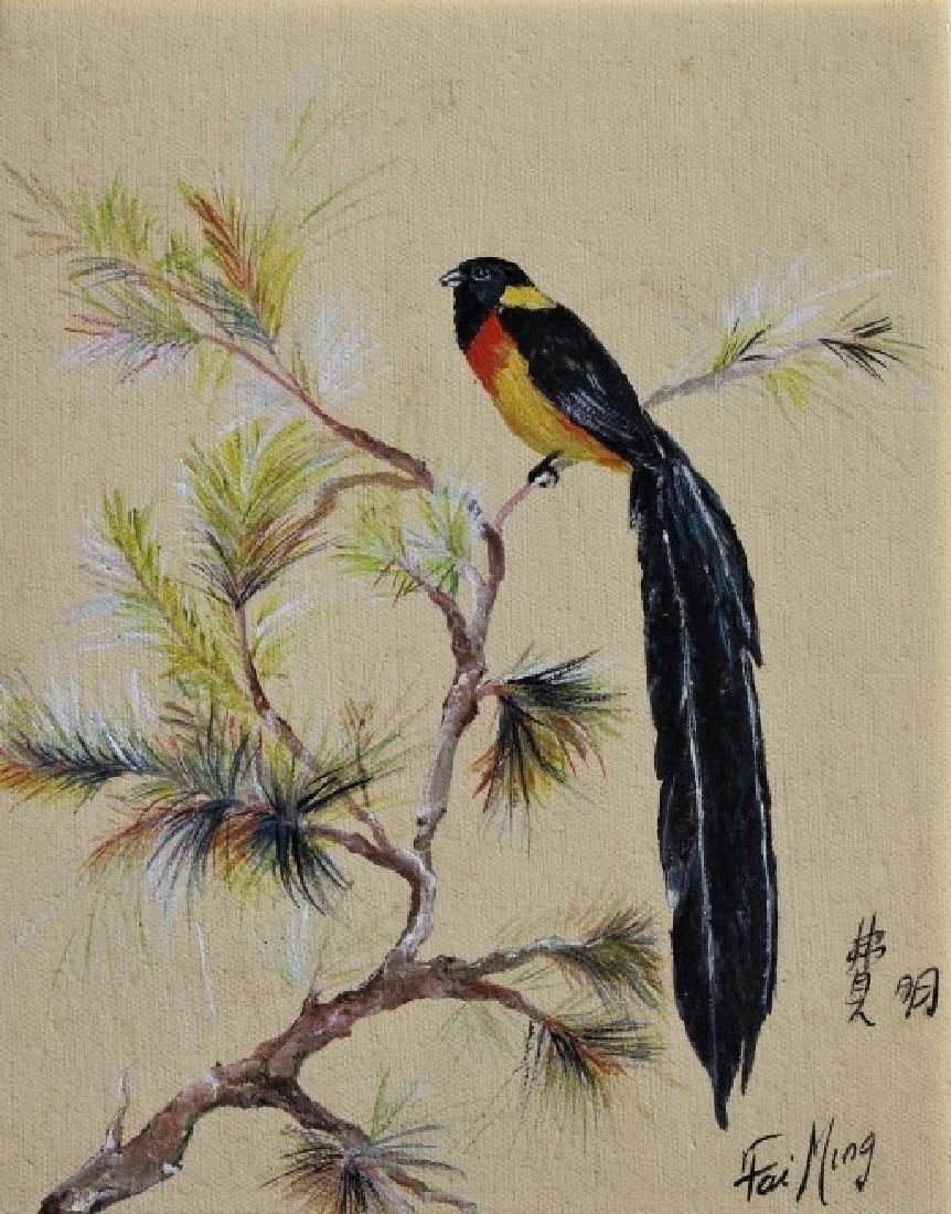 Pair of Bird paintings - 3