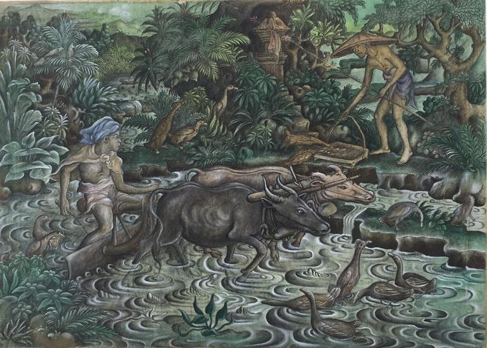Bali oil painting