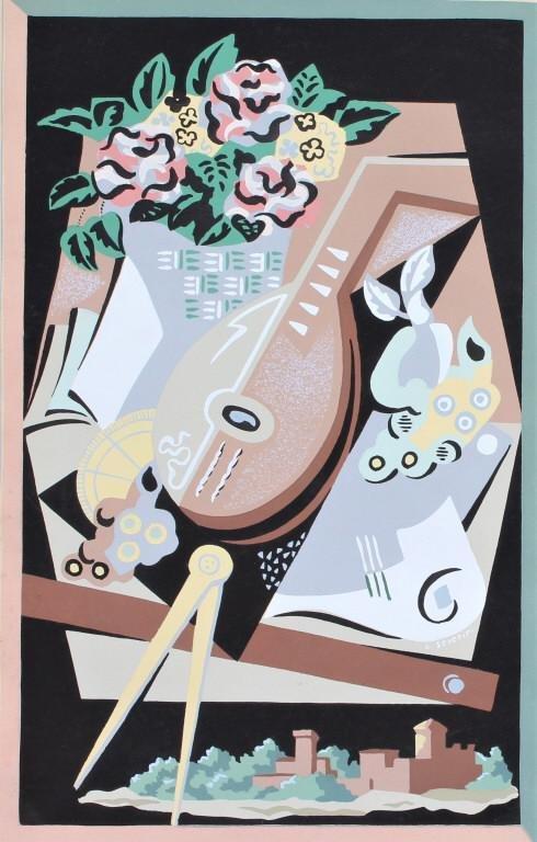 Gino Severini  (1883 - 1966),  Pochoir/stencil