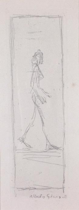"""Alberto Giacometti, Etching,"""" Femme Qui Marche"""""""