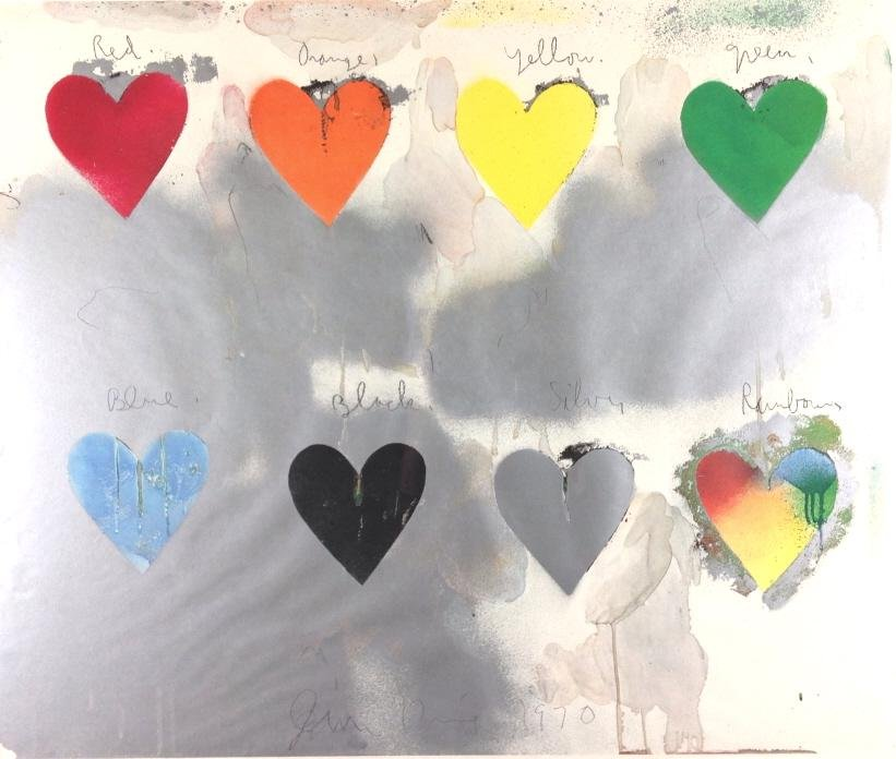 Jim Dine, 8 hearts