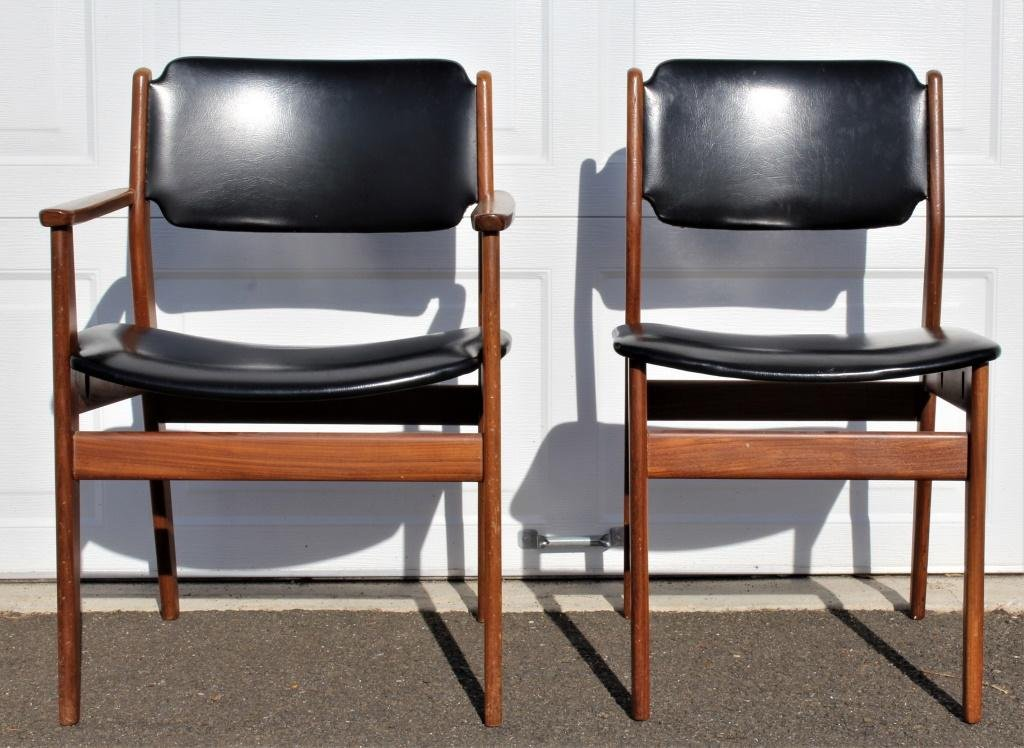 Pair of Norway Chairs, Mid century
