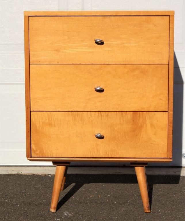 Paul McCobb 3 Drawer Dresser