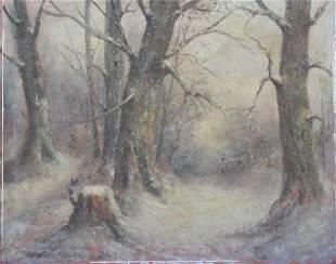 Down the snowy path