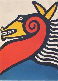 Alexander Calder, Sea Horse, Hand signed, Color