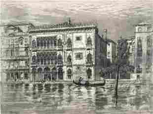 Axel Herman Haig (1835-1921), Venice, etching,1898