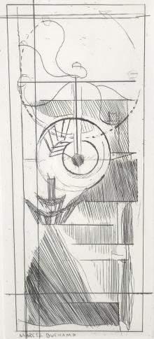 "Marcel Duchamp, ""Coffee Mill "" From ""Du Cubism"