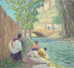 Harry Leslie Hoffman , Spain washing at river