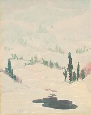 Harry Leslie Hoffman Winter snow
