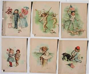 Set of 6 Maud (Bogart) Humphrey (1898)